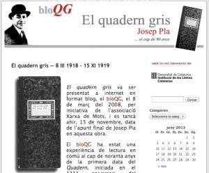 Quadern Gris, de Jusep Pla