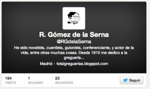 Ramón Gomez de la Serna Twitter